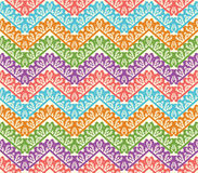 Colorful zigzag seamless pattern. Chevron vector background Stock Photos