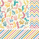 Colorful zigzag seamless set Royalty Free Stock Images