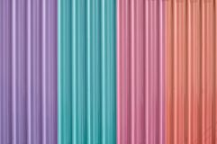 Colorful zinc metal corrugated fence,metalsheet fence for background,Abstract background. Colorful zinc metal corrugated fence,metalsheet fence for background stock image