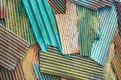 Colorful zinc roof Royalty Free Stock Photography