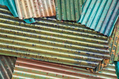 Colorful zinc roof. Stack for graphic design background Stock Images