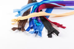 Colorful zipper Stock Photography