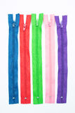 Colorful zipper Royalty Free Stock Images