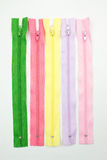 Colorful zipper Stock Image