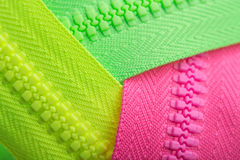 Colorful zippers Stock Image