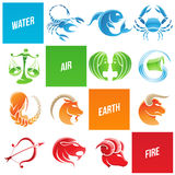 Colorful Zodiac Star Signs. Vector Illustration of Colorful Zodiac Star Signs Royalty Free Stock Photo