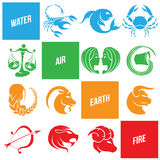 Colorful Zodiac Star Signs. Vector Illustration of Colorful Zodiac Star Signs Stock Photo