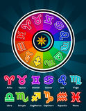 Colorful Zodiac Symbols Royalty Free Stock Image