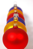 ColorfulCchristmas balls Royalty Free Stock Images