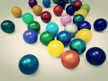 Colorfulchromeball. Chromeball in different color for background Royalty Free Stock Photography