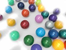 Colorfulchromeball. Chromeball in different color for background Royalty Free Stock Images