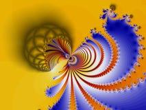colorfull分数维螺旋 图库摄影