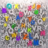 彩虹颜色字母表背景 库存例证