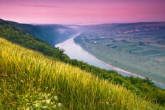 colorfull日出风景在夏天 免版税图库摄影