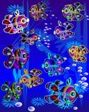 colorfull ναυτικό ψαριών περιβάλλ&omi Στοκ Εικόνα