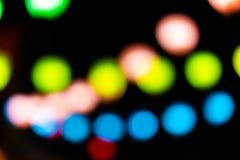 Colorfull лампы Bokeh стоковые изображения