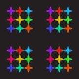 Colorfull продевает нитку кресты Стоковое фото RF