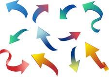 Colorfull 3D arrows. Vector. Illustration vector illustration