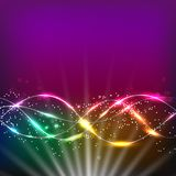 Colorfull abstract waves background. . Illustration in different colors. Stock Image