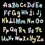 Colorfull alphabet design on black Background. Vector illustration, eps 10 Royalty Free Stock Photography