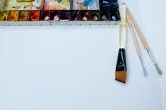 Colorfull-Aquarellpaletten-Kunsttapete Lizenzfreie Stockbilder