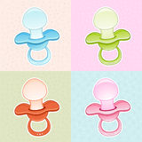 Colorfull Baby Pacifier Stock Photo