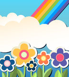 Colorfull background with flower. Vector illustration  of a colorfull background with flower Royalty Free Stock Image