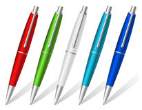 Colorfull ball pens Stock Photo