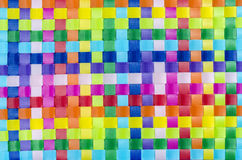Colorfull basket work stock photo