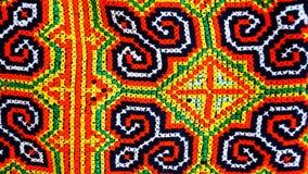 Colorfull-Baumwollhintergrund mit thailändischer Art stockbild