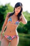 Colorfull bikini babe Stock Images