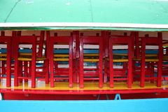 Colorfull boat in Xochimilco - Mexico Stock Images