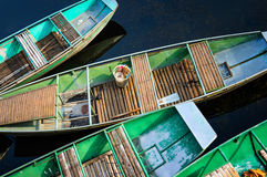 Colorfull Boats in Tam Coc wharf Stock Images