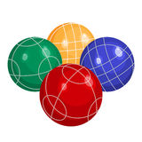 Colorfull bocce balls made of metal or plastic vector. Bocce balls made of metal or various kinds of plastic vector illustration  on white background. Bocci is a Royalty Free Stock Images