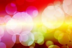 Colorfull bokeh vertroebelde abstracte bokehachtergrond Stock Afbeeldingen