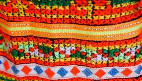 Colorfull bomullsbakgrund med thai stil Royaltyfri Bild