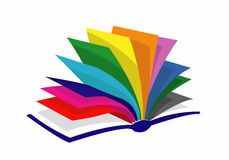 Colorfull book. Very nice style of colorfull book Royalty Free Stock Photos