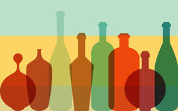 Colorfull bottles background. Art concept. Royalty Free Stock Photo