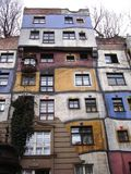Colorfull building. Hundertawasser Village is the colorful building in Viena Royalty Free Stock Images