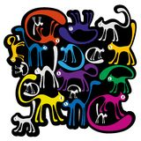 Colorfull cats Royalty Free Stock Image