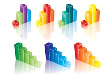 Colorfull chart collection Royalty Free Stock Photo