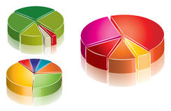 Colorfull chart collection Stock Images