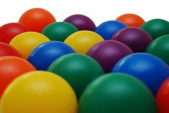 Colorfull children balls. Isolated on white background stock images