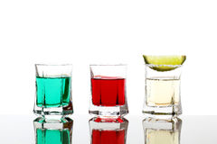 Colorfull cocktail  white background Stock Images