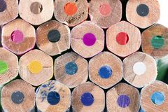 Colorfull colored pencils Royalty Free Stock Photos