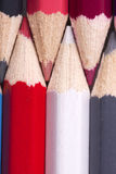 Colorfull colored pencils Royalty Free Stock Images