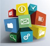 Colorfull composition of cubes Stock Photos