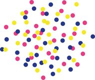 Colorfull confetti background - color changeable Stock Photo