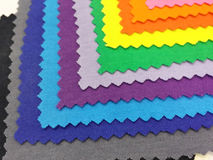 Colorfull cotton fabric Stock Images