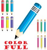 Colorfull Crayons Stock Photos